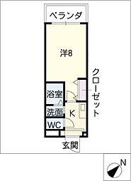 エクセレント栄光[2階]の間取り