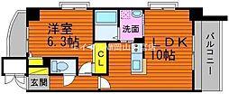 岡山県岡山市北区中井町2丁目の賃貸マンションの間取り
