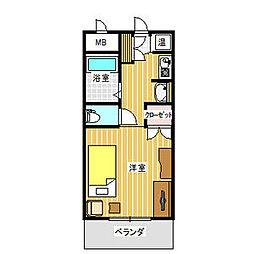 ノーブルハウス吉田[7階]の間取り
