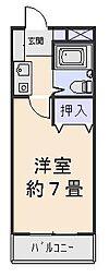 ロイヤルクリヨン[4階]の間取り
