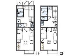 レオパレス砂郷III[2階]の間取り