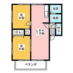 サンピアレB・C[2階]の間取り