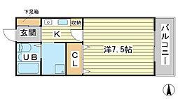 TNマンション[2-E号室]の間取り