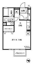 Casa・Virente[203号室]の間取り