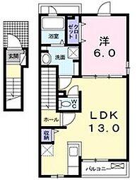 Elcasa B[2階]の間取り