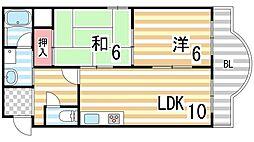 コスモピア野崎[306号室]の間取り