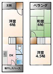 [タウンハウス] 兵庫県西宮市甲子園口6丁目 の賃貸【/】の間取り