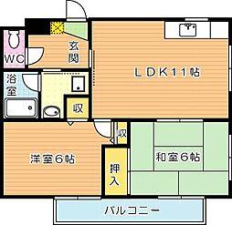 ファミーユ赤坂[2階]の間取り