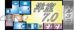 兵庫県神戸市灘区八幡町2丁目の賃貸マンションの間取り