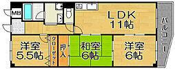 兵庫県宝塚市南口1丁目の賃貸マンションの間取り