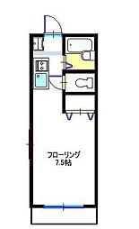 東京都世田谷区奥沢4丁目の賃貸アパートの間取り