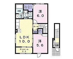 グランシャリオ桜屋敷[202号室号室]の間取り