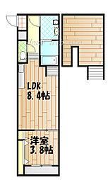 stage姫島[101号室]の間取り