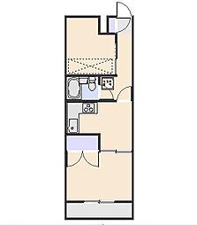 煉瓦館11[104号室]の間取り