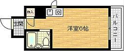 大阪府大阪市北区長柄中3丁目の賃貸マンションの間取り