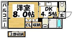 福岡県大野城市中央2丁目の賃貸マンションの間取り