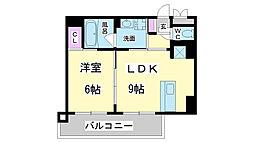 兵庫県神戸市長田区二番町の賃貸マンションの間取り
