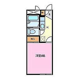 エクセレントハイム[1階]の間取り