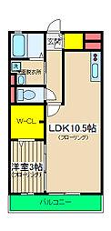 コート権太坂[105号室]の間取り
