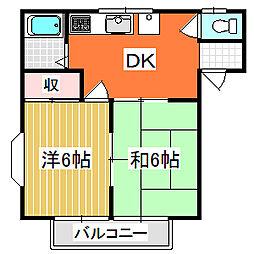 レジデンスワンバレー桜井[2階]の間取り