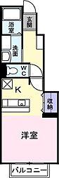 和歌山県和歌山市梶取の賃貸アパートの間取り