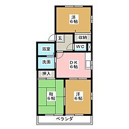 ニューコート上吉田[1階]の間取り