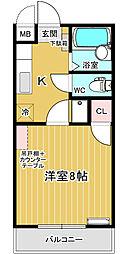 シンセイマンション[1階]の間取り