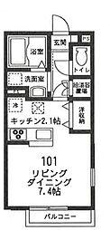 フィカーサ鎌倉[101号室号室]の間取り