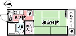 西山荘[202号室]の間取り