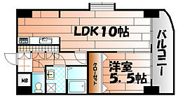 ボヌ−ル小倉[2階]の間取り