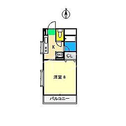 モーメントエリ[5階]の間取り