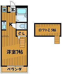 グリシーヌ国分寺[1階]の間取り