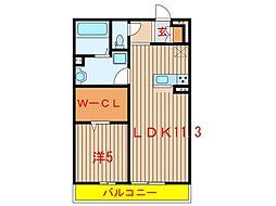 千葉県八千代市緑が丘5丁目の賃貸マンションの間取り