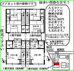 [テラスハウス] 東京都八王子市丹木町2丁目 の賃貸【東京都 / 八王子市】の間取り