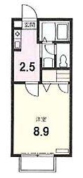 リリ弐番館[105号室号室]の間取り