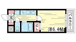 兵庫県神戸市兵庫区水木通1丁目の賃貸マンションの間取り