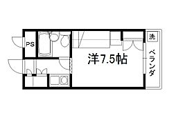 セレーネ田辺3B[2109号室]の間取り