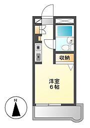 愛知県名古屋市昭和区元宮町3丁目の賃貸マンションの間取り