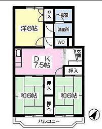 福岡県北九州市門司区新原町の賃貸マンションの間取り