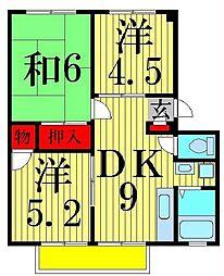 東京都足立区一ツ家2丁目の賃貸マンションの間取り