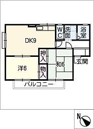 メゾンエルフ A棟[2階]の間取り