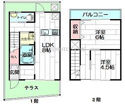 [テラスハウス] 大阪府茨木市中穂積2丁目 の賃貸【/】の間取り