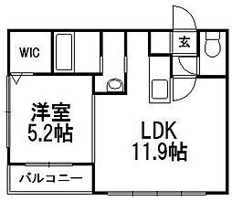 北海道札幌市豊平区平岸四条10丁目の賃貸マンションの間取り