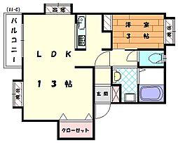 シャングリラ2番館[2階]の間取り