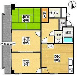 マンションウイステリア[4階]の間取り