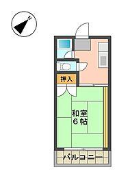 愛知県名古屋市名東区本郷3丁目の賃貸アパートの間取り