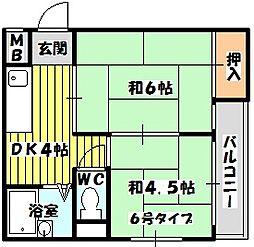 淡路丸富マンション[306号室]の間取り
