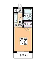 ステーションヴィラ鶴ヶ島[114号室]の間取り