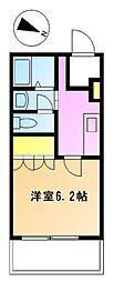 ジョイオブライフ鶴川 7階1Kの間取り