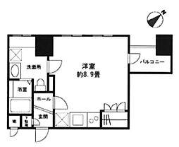 東京都新宿区新宿1丁目の賃貸マンションの間取り